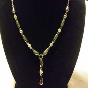 PREMIER DESIGNS Hematite Silver tone Link Necklace